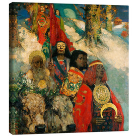 Canvas print  Druids bringing in the Mistletoe - Edward Atkinson Hornel