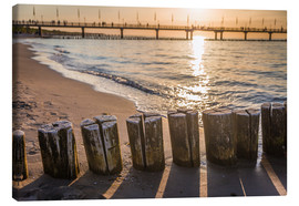 Canvas print  Sundwon at Baltic beach (Germany) - Christian Müringer