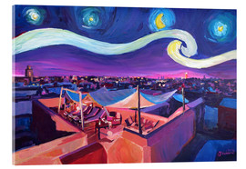 Acrylic print  Starry Night in Marrakech   Van Gogh Inspirations on Fna Market Place in Morocco - M. Bleichner
