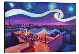Aluminium print  Starry Night in Marrakech   Van Gogh Inspirations on Fna Market Place in Morocco - M. Bleichner
