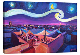 Canvas print  Starry Night in Marrakech   Van Gogh Inspirations on Fna Market Place in Morocco - M. Bleichner