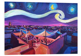 Foam board print  Starry Night in Marrakech   Van Gogh Inspirations on Fna Market Place in Morocco - M. Bleichner