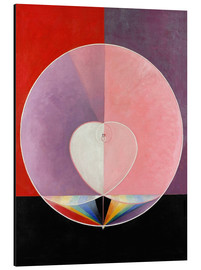 Aluminium print  The Dove, No. 2 - Hilma af Klint