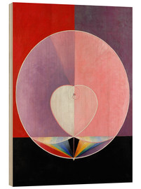 Wood print  The Dove, No. 2 - Hilma af Klint