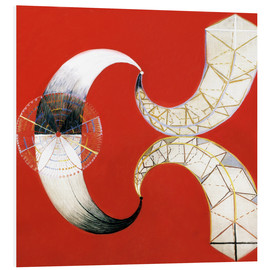 Foam board print  The Swan, No. 9 - Hilma af Klint
