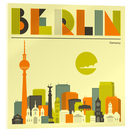 Acrylic print  Skyline of Berlin - Jazzberry Blue