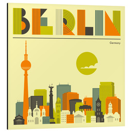 Aluminium print  Skyline of Berlin - Jazzberry Blue