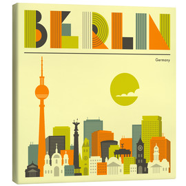 Canvas  Berlin Skyline - Jazzberry Blue