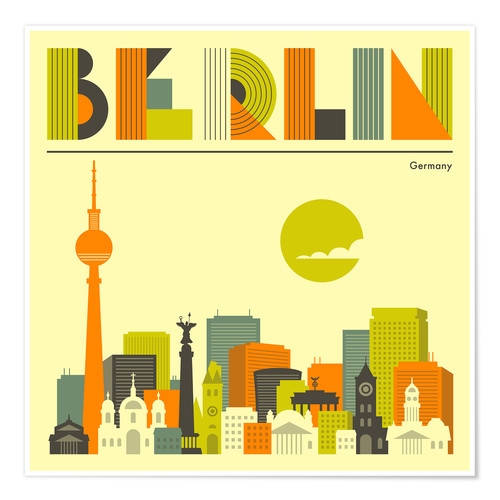 Premium poster Skyline of Berlin