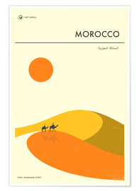 Poster  Morocco Travel Poster - Jazzberry Blue