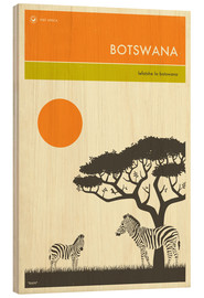 Wood  Botswana Travel Poster - Jazzberry Blue