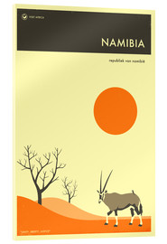 Acrylic glass  Namibia Travel Poster - Jazzberry Blue
