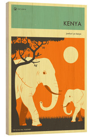 Wood print  Kenya - Jazzberry Blue