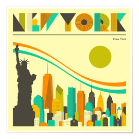 Premium poster New York skyline