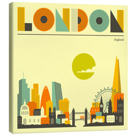 Canvas  London Skyline - Jazzberry Blue