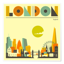 Premium poster  London skyline - Jazzberry Blue