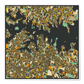 Poster  Sydney Map - Jazzberry Blue