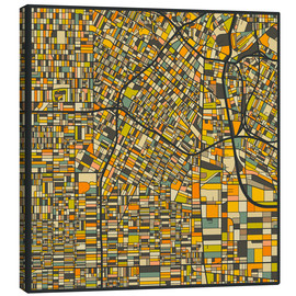 Canvas print  Los Angeles Map - Jazzberry Blue