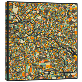 Canvas print  Berlin Map - Jazzberry Blue