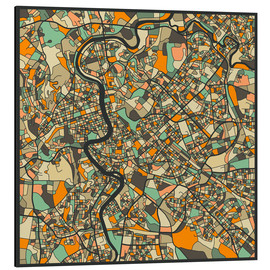 Aluminium print  Rome Map - Jazzberry Blue