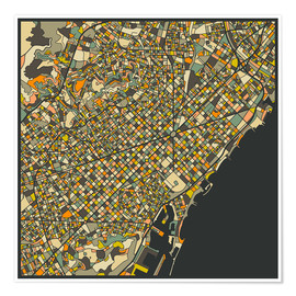 Jazzberry Blue - Barcelona Map