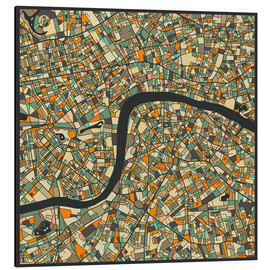 Aluminium print  London Map - Jazzberry Blue
