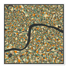 Poster  London Map - Jazzberry Blue