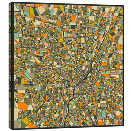 Canvas print  Munich Map - Jazzberry Blue
