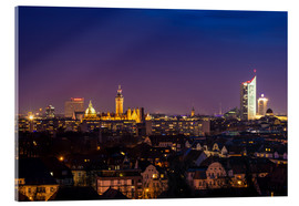 Acrylic print  Leipzig Skyline at night - Martin Wasilewski
