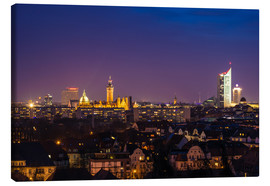 Canvas print  Leipzig Skyline at night - Martin Wasilewski