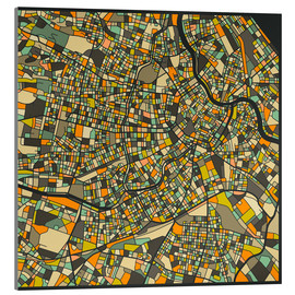 Acrylic glass  Vienna Map - Jazzberry Blue