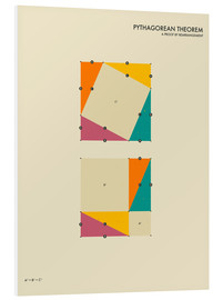 Foam board print  Pythagorean theorem - Jazzberry Blue