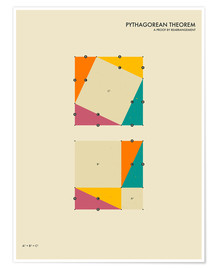 Premium poster  Pythagorean theorem - Jazzberry Blue
