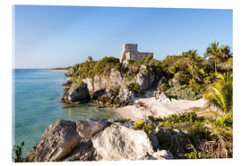Acrylic print  Famous maya ruins of Tulum on the caribbean sea, Mexico - Matteo Colombo