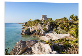 Foam board print  Famous maya ruins of Tulum on the caribbean sea, Mexico - Matteo Colombo
