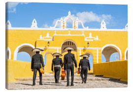 Canvas print  Mariachi band with sombreros in an old monastery, Mexico - Matteo Colombo