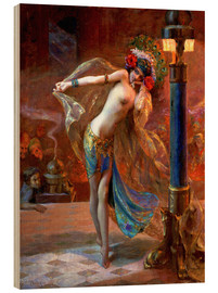 Wood print  Dance of the Seven Veils - Gaston Bussiere
