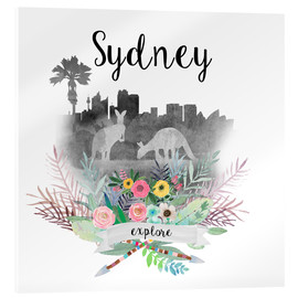 Acrylic print  Sydney Collage - GreenNest
