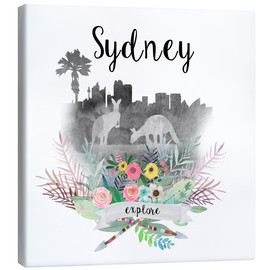 Canvas print  Sydney Collage - GreenNest