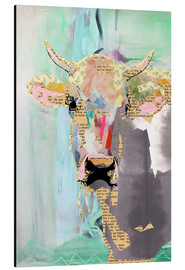 Aluminium print  Cow collage - GreenNest