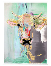 Premium poster Cow collage