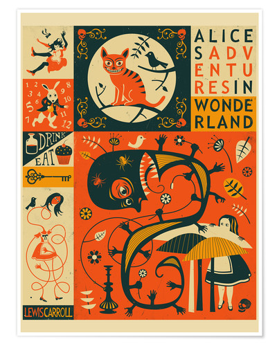 Premium poster Alice in Wonderland