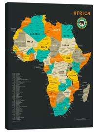 Canvas print  Africa Map - Jazzberry Blue