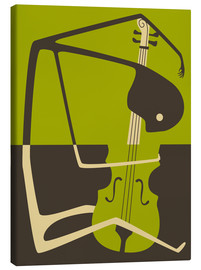 Canvas print  Blues' Cello - Jazzberry Blue