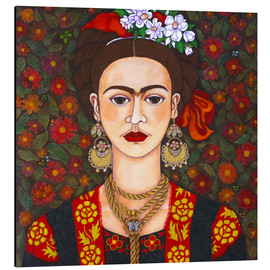 Aluminium print  Frida with butterflies - Madalena Lobao-Tello