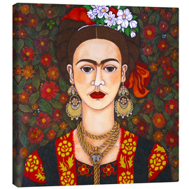 Canvas print  Frida with butterflies - Madalena Lobao-Tello