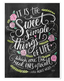 Premium poster The Sweet Simple Things