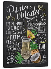 Canvas print  Pina Colada recipe - Lily & Val