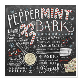 Premium poster  Peppermint Bark Recipe - Lily & Val