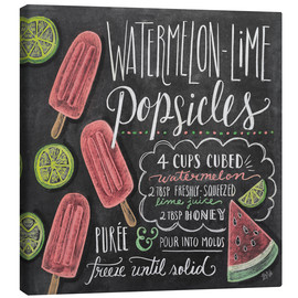 Canvas print  Watermelon Popsickles - Lily & Val